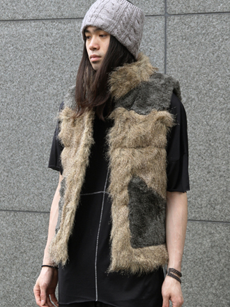 [NEW ARRIVAL]TALKING ABOUT THE ABSTRACTION // FAKE FUR VEST