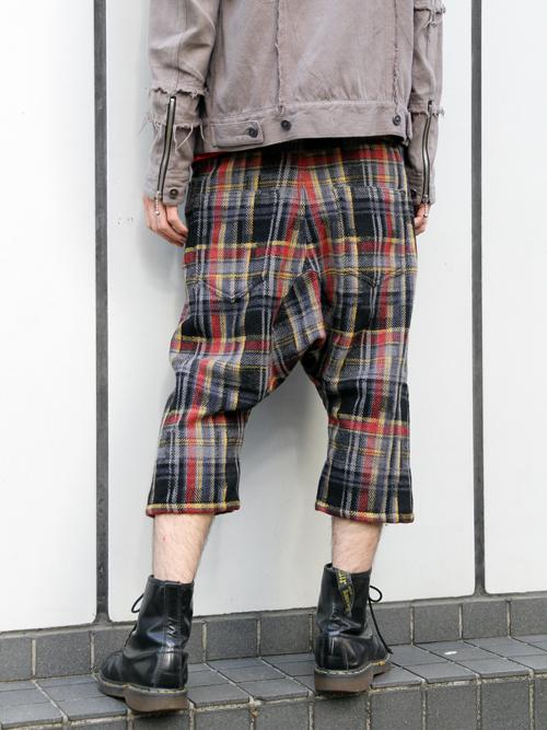 [ 入荷連絡 ] ■ANREALAGE // RANDOM CHECK TWEED SARROUEL PANTS