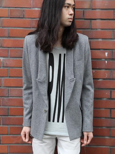 【MORE SALE_MEDAMA#5】■ANREALAGE // LONG COLLAR FLANNEL SHORT JKT ¥44,100- → ¥35,280-