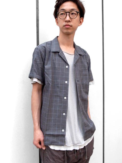 【BLACK&BLUEの開襟シャツ】