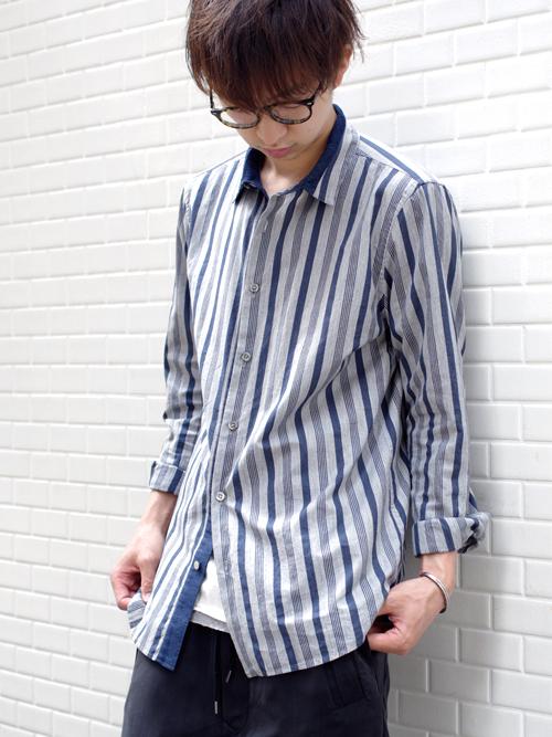 【JOINTRUSTの異素材同士を組み合わせたシャツ】