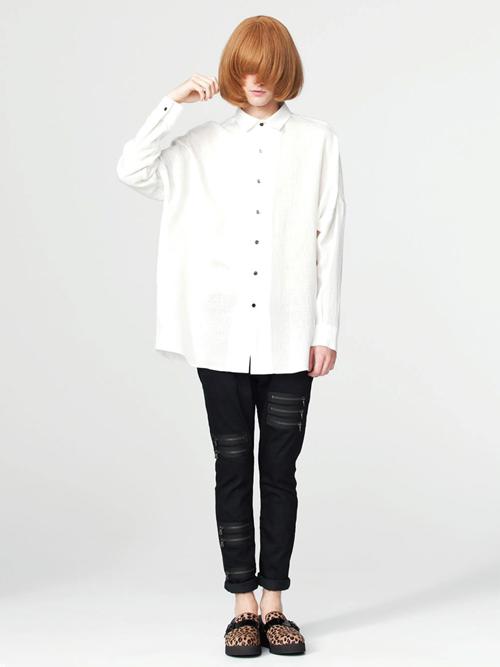 【SHAREEFのゆったりシャツ】