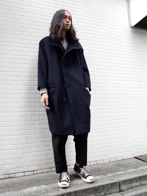 【TROVEのコクーンシルエットのコート】