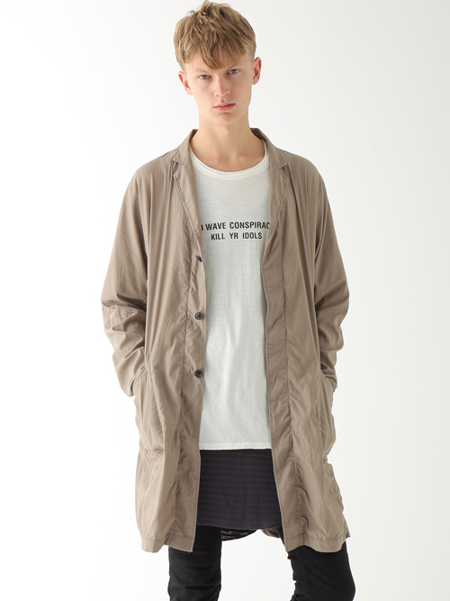 【wizzardのドルマンデザインを取り入れたコートとお知らせ】
