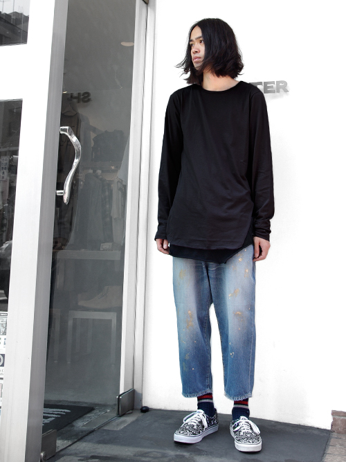 【VOTE MAKE NEW CLOTHESのヴィンテージ風のデニム】