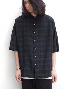 SHAREEFのチェック柄ワイドシャツ