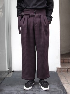 SHAREEF // WOOL JQ WIDE BELT PANTS