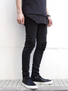 wizzard // DAMAGE MOTOR CYCLE SKINNY PANTS