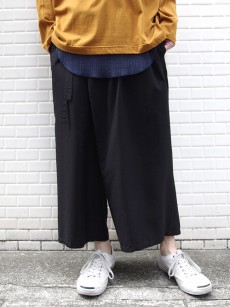 wizzard // WIDE CROPPED WRAP PANTS