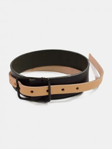 VOAAOV // leather thin belt