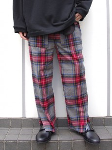 JieDa // SIDE SLIT FLANNEL EASY PANTS