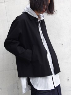 VOAAOV // wool cotton box jacket