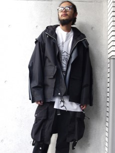 ALMOSTBLACK // 3LAYER HOODED BLOUSON