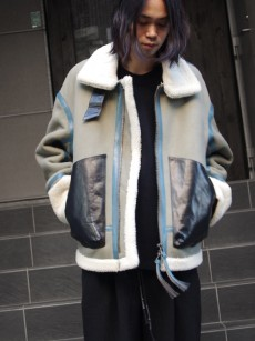 SOE // Leather Mouton B-3 Jacket