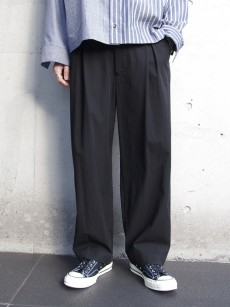 VOAAOV // box pleats wide pants