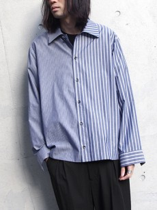 VOAAOV // stripe box shirt blouson