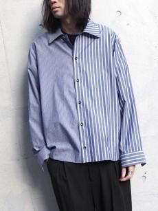 VOAAOV // stripe box shirt blouson