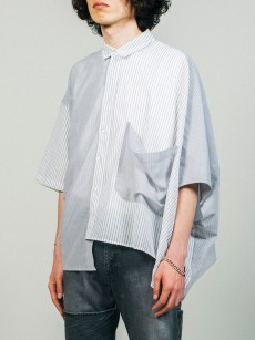 JieDa // STRIPE ASYMMETRY SHIRT