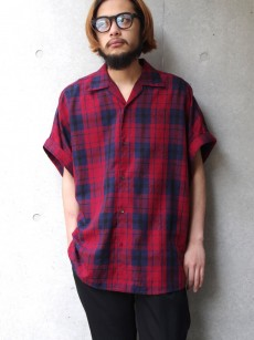 SHAREEF // CHECK JACQUARD S/S SHIRTS
