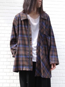my beautiful landlet // brushed tartan shirt blouson