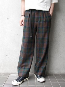 JieDa // PLAID WIDE SLACKS
