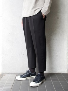 wizzard // GABARDINE PLEATED CROP TROUSER