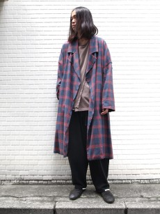 my beautiful landlet // brushed tartan wide long coat