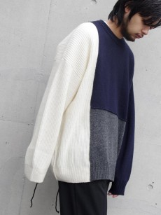 wizzard // BLOCKED OVERSIZED KNIT