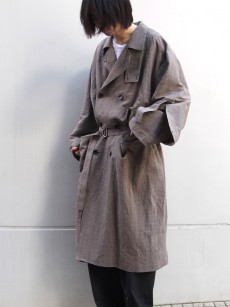my beautiful landlet // cotton linen big trench