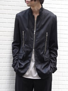 M A S U // ZIP-UP GABARDINE BLOUSON