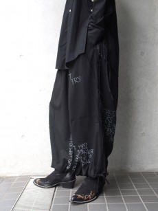 Leh// Hand Embroidery Band Wide Pants