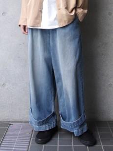 my beautiful landlet // denim tuck wide pants