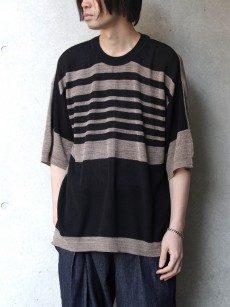 wizzard // 14G S/S BORDER KNIT