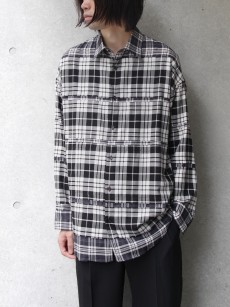 ALMOSTBLACK // DOUBLE CLOTH WIDE SHIRT