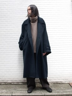 VOAAOV // SOFT WOOL BEAVER LONG COAT