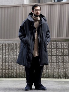 my beautiful landlet // TASLAN NYLON DOWN HOODED COAT